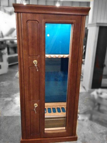 Элитная оружейная витрина сейф на 6 стволов Адаричев ОШЭЛ 635 БП-Z