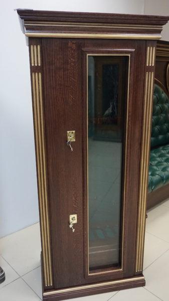 Оружейная витрина сейф на 5 стволов с отделкой деревом Адаричев ШЭЛ 535 БП