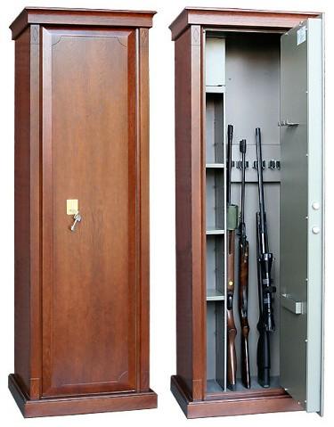 Элитный оружейный шкаф на 4 ствола Адаричев Сафари-D