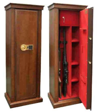 Элитный оружейный шкаф сейф на 3 ствола Адаричев Заслон-D-EL