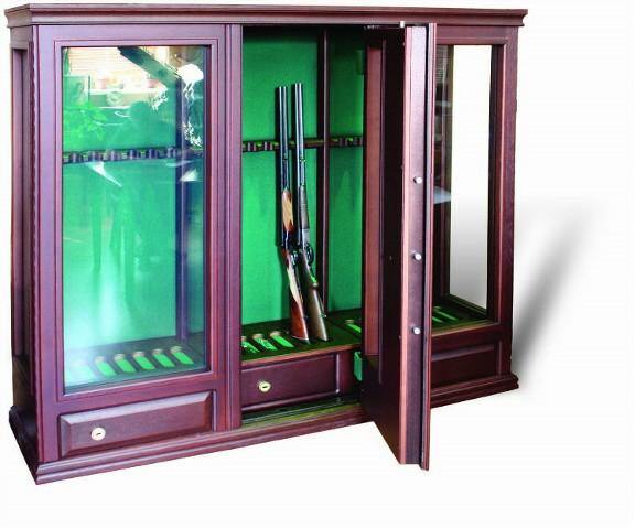 Элитная оружейная витрина сейф на 20 ружей ОШЭЛ-2035-Б»Адаричев»
