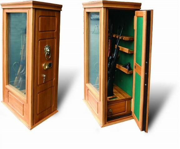 Элитная оружейная витрина сейф на 6 стволов Адаричев ОШЭЛ 635 ББ
