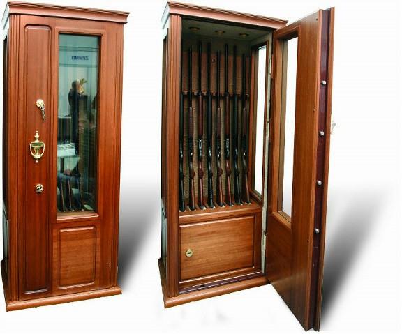 Элитная оружейная витрина сейф на 8 стволов Адаричев ОШЭЛ 835 Б2000