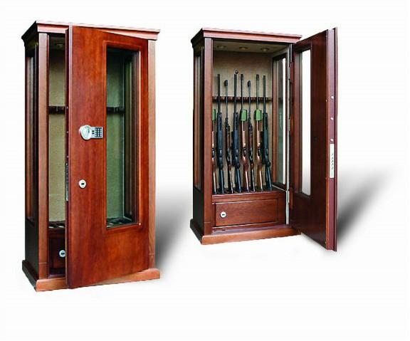 Элитная оружейная витрина сейф на 8 стволов Адаричев ОШЭЛ 835 БЭ