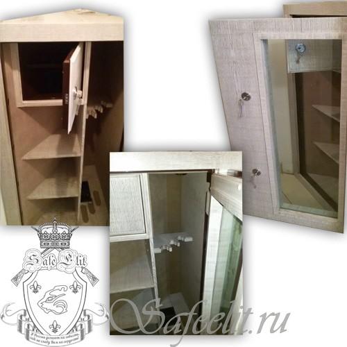 Элитный угловой оружейный сейф шкаф на 3 ствола Адаричев  ОШЭЛ 335 УБПZ