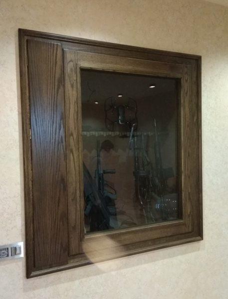 Элитный встраиваемый сейф витрина на 15 стволов ШЭЛ 1535 БЭZ
